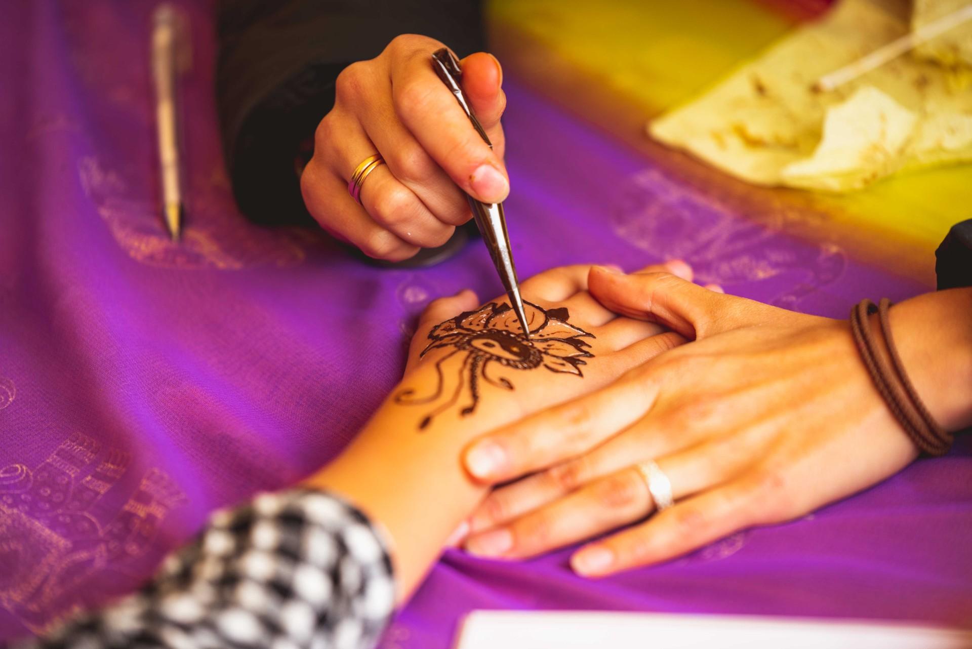 Henna patterns during Eid al–Fitr