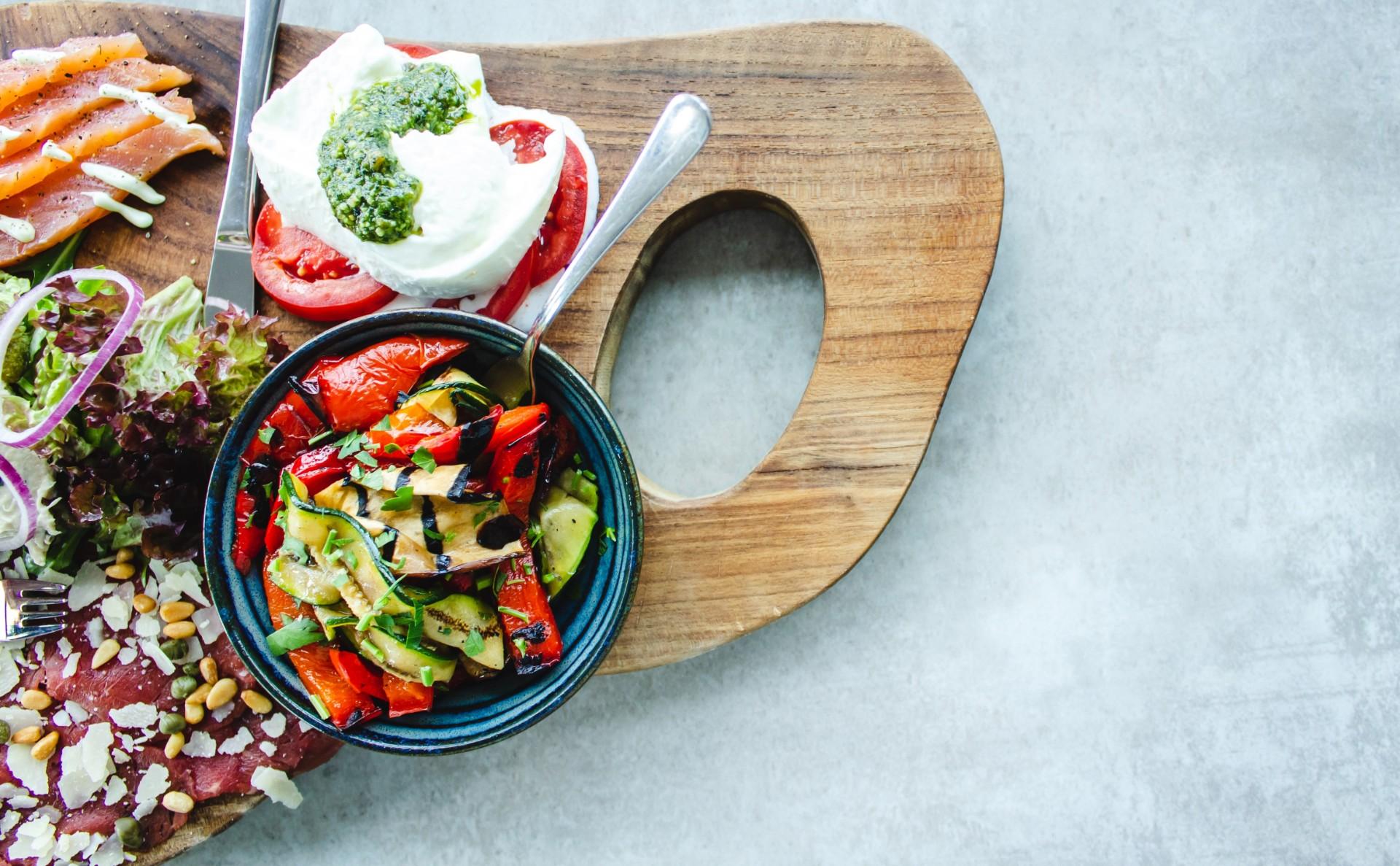 Greek food platter