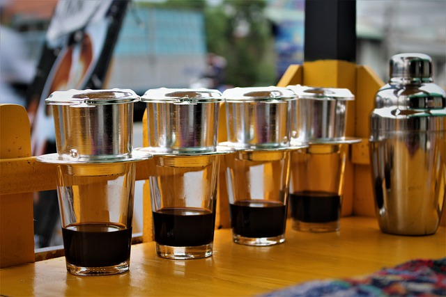 Vietnamese phin coffee