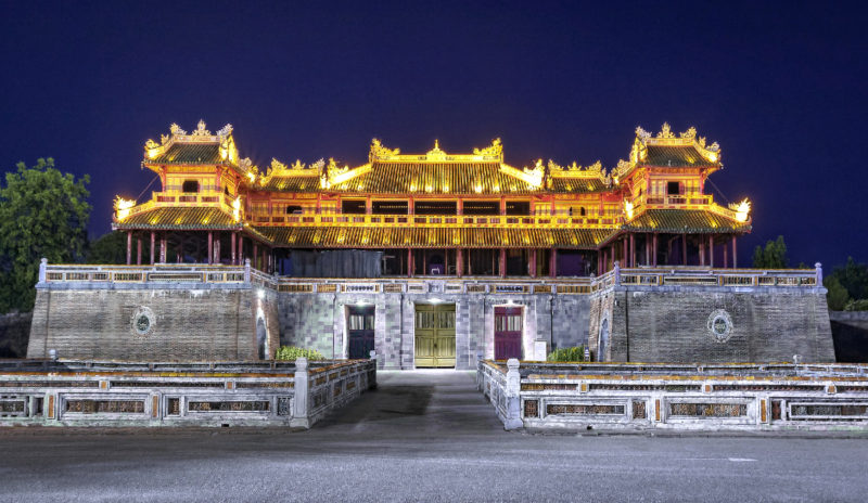 Image of Hue Imperial City at night